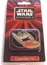 """Applause Droid Starfighter 1 3/4"""" Metal Collector's Pin from Star Wars Episode 1"""