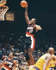 1986 CLYDE DREXLER Portland Trailblazers ACTION DUNK Glossy Photo 8x10 PICTURE