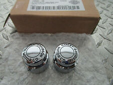 88-06 Harley Davidson Motor Co FXSTS Springer Softail Front Axle Nut Covers