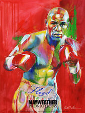 Floyd Mayweather Fighter of the Year poster by Richard T. Slone 18 x 24