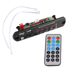DC 12V Car USB AUX Bluetooth MP3 Music Decode Board FM Amplifier Remote
