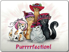 COMPUTER MOUSEPAD RED HATTERS KITTY CAT PURRRFECTION RED HAT SOCIETY LADIES