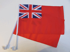 RED ENSIGN CAR WINDOW FLAG - 2 PACK NEW