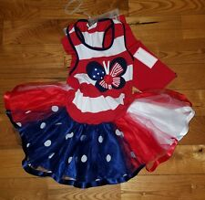 NWT Girls EMILY ROSE Red/White/Blue 4th of July Dress Tutu Legging Outfit Sz 3T