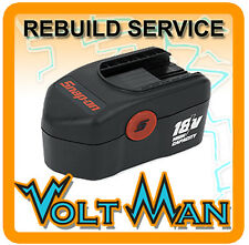 WE REBUILD YOUR 18 VOLT SNAP-ON BATTERY CTB4185 W/ 2.2AH NICD CELLS