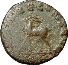 Gallienus AE Antoninianus Diana Antelope Rome Mint Authentic Roman Coin