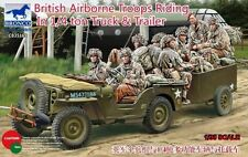 Bronco 1/35 35169 British Airborne Troops Riding in 1/4 Ton Truck&Trailer