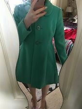 Oasis Size M 10 12 Turquoise Blue Green Cute Flared Winter Coat