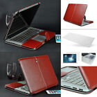 Brown Leather Laptop Sleeve Bag Case Cover For Macbook Air Pro Retina 11/13/15