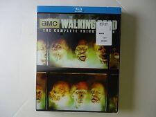 The Walking Dead: Season 3 (Blu-ray, 2013, 5-Disc) NEW w/lenticular slipcover