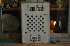 Vintage Looking Old White Wood Sign Farm Fresh Eggs Game Board Primitive Decor