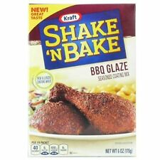 Shake 'N Bake BBQ GLAZE Seasoned Coating Mix 6 oz. (4 Boxes)