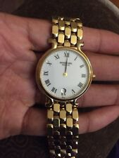 Raymond Weil Geneve 9137-2 Men's Ladies Watch 18k Gold Plated White Dial