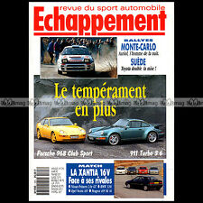 ECHAPPEMENT N°293 PORSCHE 928 CS 911 TURBO 3.6 405 Mi 16 RENAULT 21 TURBO 1993