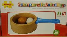 bigjigs sauce pan with boiled eggs wooden play food