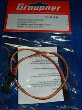 GRAUPNER 3935.32 cable de RALLONGE servo GOLDTECH extension VERLÄNGERUNGSKABEL