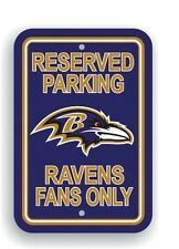 "Baltimore Ravens Reserved Parking Sign 12"" x 18"" Plastic Wall Decor"