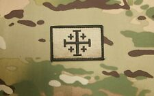 Jerusalem Cross Coyote Tan Morale Patch Crusader Infidel Modern Templar