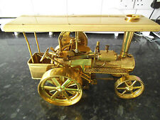 Wilesco D40MS brass steam tractor
