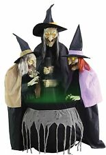 Halloween LifeSize Animated STITCH WITCH SISTERS Animatronic Haunted House NEW