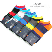 5Pairs Men's Socks New Random Cotton Low Cut Multi-Color Ankle Casual Socks Q13