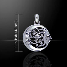 Sun Moon Stars and Planet Celestial .925 Sterling Silver Pendant Peter Stone