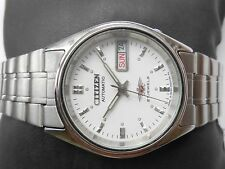 RARE VINTAGE MID SIZE 33mm WHITE DIAL CITIZEN JAPAN MEN AUTOMATIC WRISTWATCH