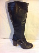 Aldo Black Knee High Leather Boots Size 41