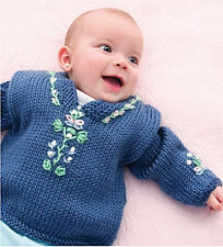 Knitting Pattern -Baby Caftan Jumper (6 sizes- 3m-2yrs) P0199