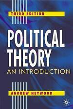 Political Theory: An Introduction, Heywood, Andrew 0333961803