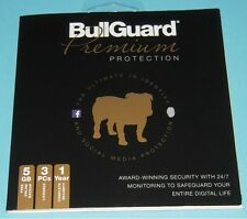 Bullguard Premium 1 Year Protection for 3 PCs w/ 5GB Online Backup New Sealed