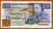 Ireland, Northern Bank, 20 pounds, 1993, P-195 (195b), F   Sale !!!