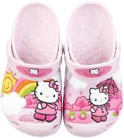 GIRLS HELLO KITTY CROCS SANDALS PINK / BUBBLEGUM BEACH HOLIDAY - UK SIZE 2
