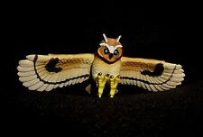 "Posable Owl in Flight Model Figurine Figure 5.5"" Wing Span Life Like"