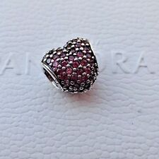AUTHENTIC PANDORA CHARM  RED  PAVE HEART  791052CZR