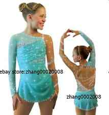 Ice skating dress.Competition blue Figure Skating / Baton Twirling dress child12