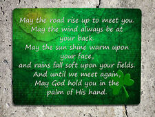 Metal Sign Irish blessing Road St Patricks day decorative Tin wall plaque gift