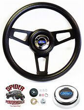 "1965-1966 Ford F-100 steering wheel BLACK SPOKE 13 3/4"" Grant steering wheel"