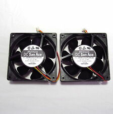 NEW lot of 2 Sanyo Denki San Ace 12 Volt 109R 120 x 38 mm DC Dual Ball fan JAPAN