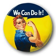 "WE CAN DO IT - ROSIE THE RIVETER - 25mm 1"" Button Badge - War Propaganda Retro"