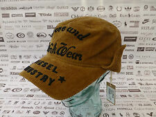 DIESEL Trapper Cap Cool Corded CHAVERT Hat Brown Embroidery Logo Cap BNWT RRP£55