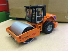 1/50 DieCast Model Single.S.W Road Roller Compactor Orange Construction vehicles