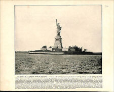Statue of Liberty NEW YORK USA / Grand Canal Grande Venice Italy 1897 PRINT