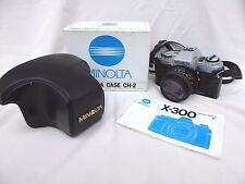 Minolta x-300 35mm SLR Film Camera con obiettivo Minolta 50mm f1.7 #ns #