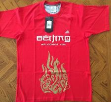 Beijing 2008 Olympic red men's Adidas T-shirt Medium or Large NWT