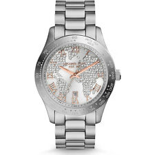 NEW MICHAEL KORS MK5958 - PAVE CRYSTAL SILVER LAYTON LADIES WATCH RRP £279.00
