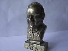 POPE JOHN PAUL II -HEAVY BRONZE BUST OF HEAD/CHEST STUNNING BRASSCOVERED VINTAGE