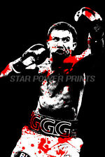 "GENNADY GOLOVKIN ""GGG"" ART PHOTO PRINT POSTER - 12 X 8 INCH - TRIPLE G -"