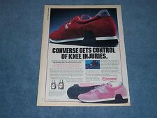 "1981 Converse Sneakers Vintage Ad ""Converse Gets Control of Knee Injuries"""