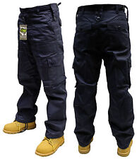 "34"" INCH NAVY BLUE ARMY MILITARY CARGO COMBAT SECURITY TROUSERS PANTS"